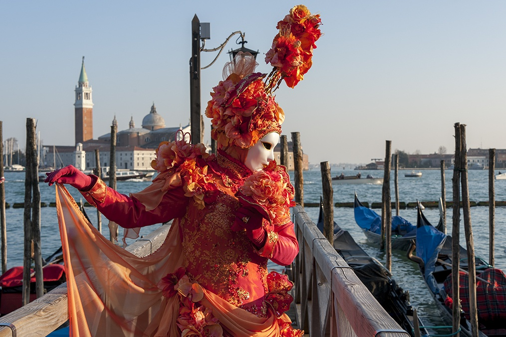 carnevale venezia Orange Bow