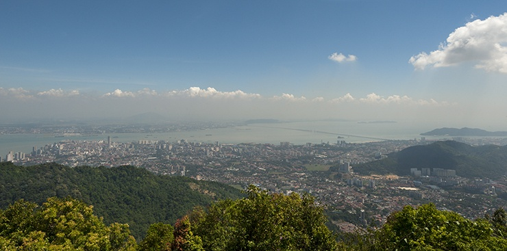 Penang From the Hill