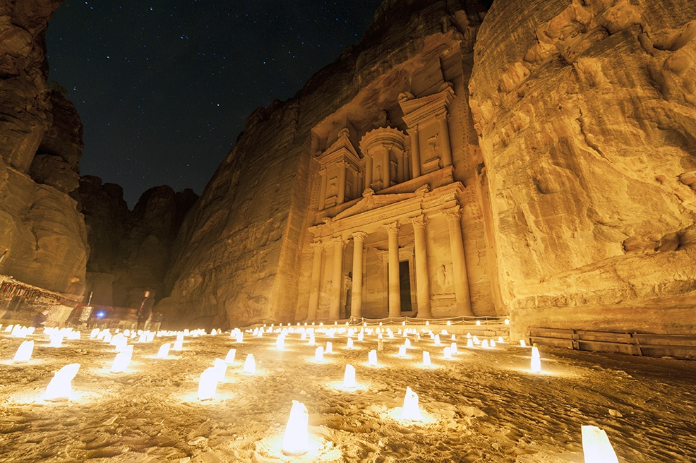 Petra By Night Treasury Low
