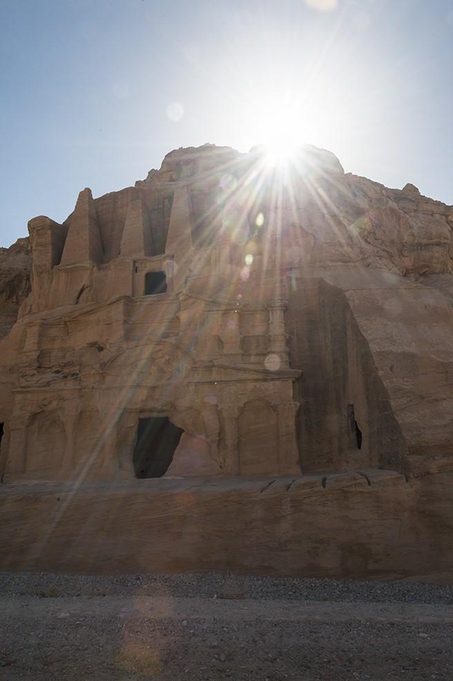 Petra Obelisk Tomb Sun Burst