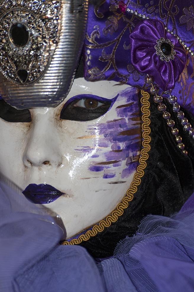 venice carnival purple mask