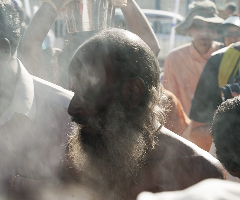 Thaipusam Old Man in the Smoke