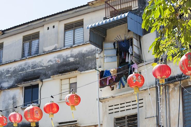 Penang red Street Lanterns