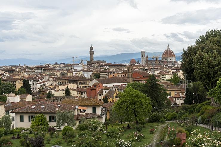 Florence Duomo from Rose Garden