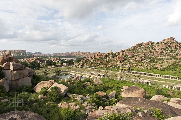 India Save Hampi Temple and Pool Above