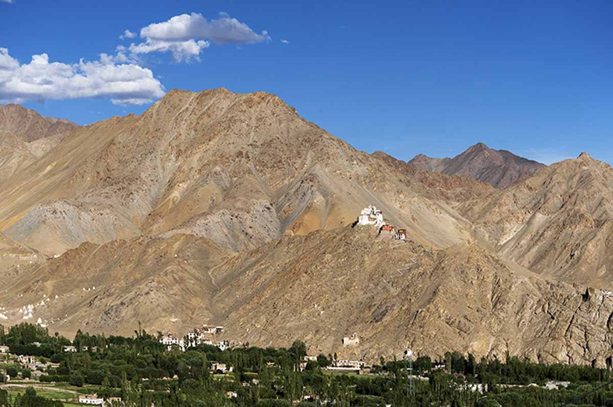 India-Leh-monastery-on-a-Hill