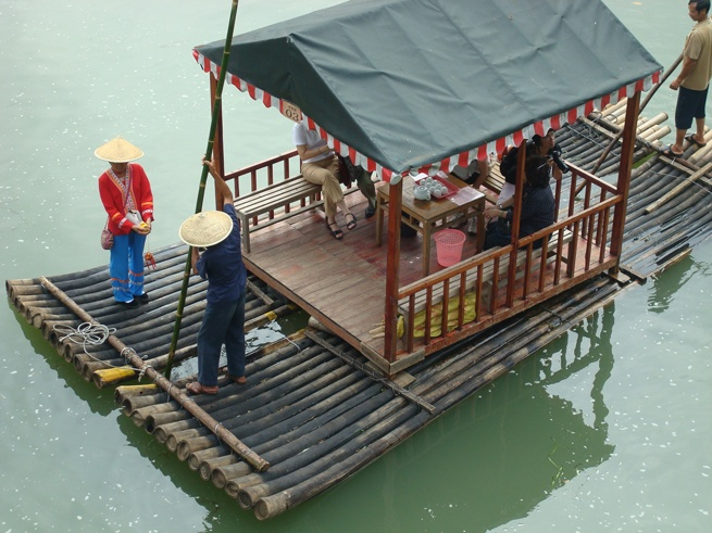 Guilin to yangshuo raft