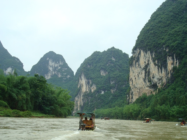 Guilin to Yangshuo bamboo rafts