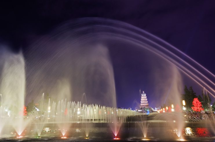 things to do in Xian Fountain Show