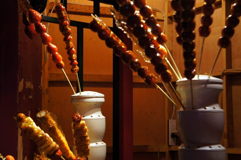 fruit candy Beijing street desserts