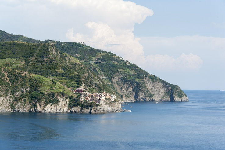 Cinque Terre by train Corniglia