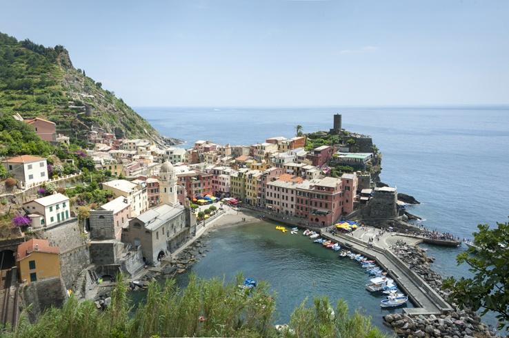 Cinque Terre by train Vernazza