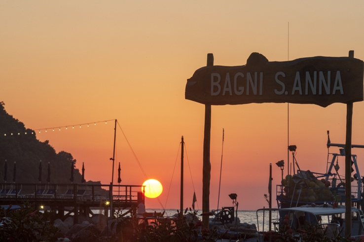 Italy Sorrento Bagni S Anna Sunset