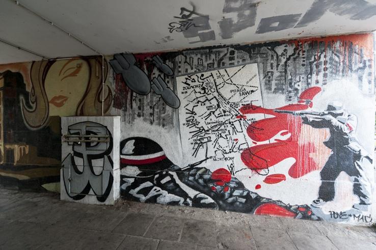 Warsaw local Street Art Soldier
