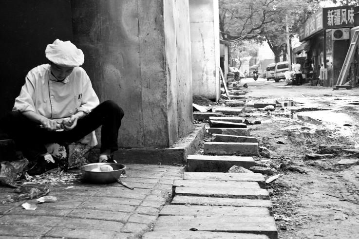 chef peeling hutong