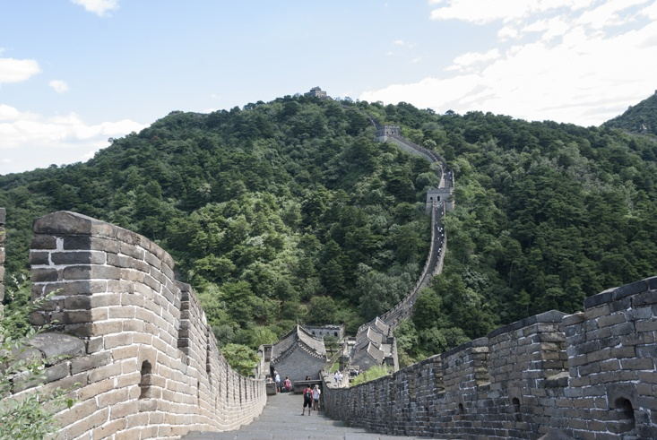 Great Wall of China Down and Up
