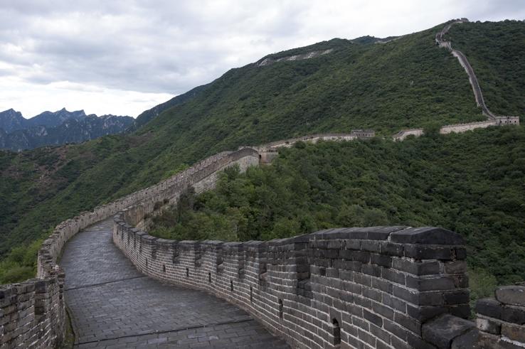 Great Wall at Mutianyu curve
