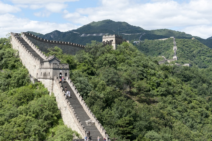Great Wall at Mutianyu straight