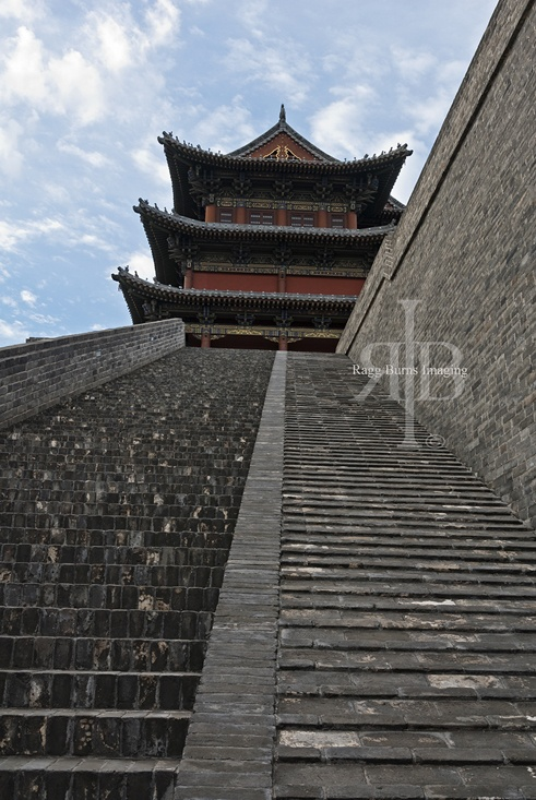 Stairs to Tower Pingyao