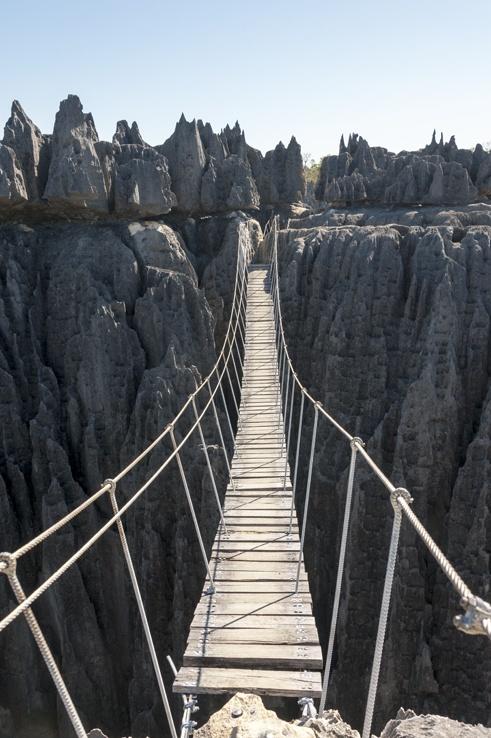 Tsingy de bemaraha suspension bridge