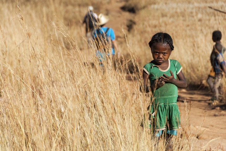 Madagascar Girl in Green Dress
