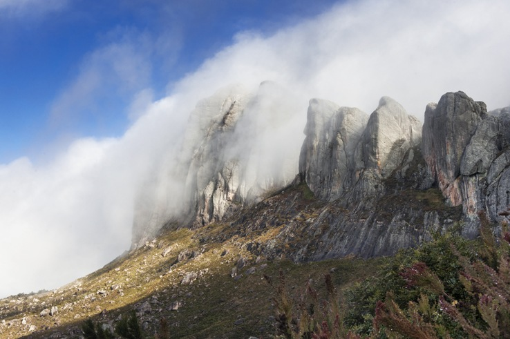 Andringitra national park mountain in clouds