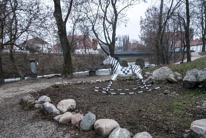 Uzupis Vilnius Rocking Zebra
