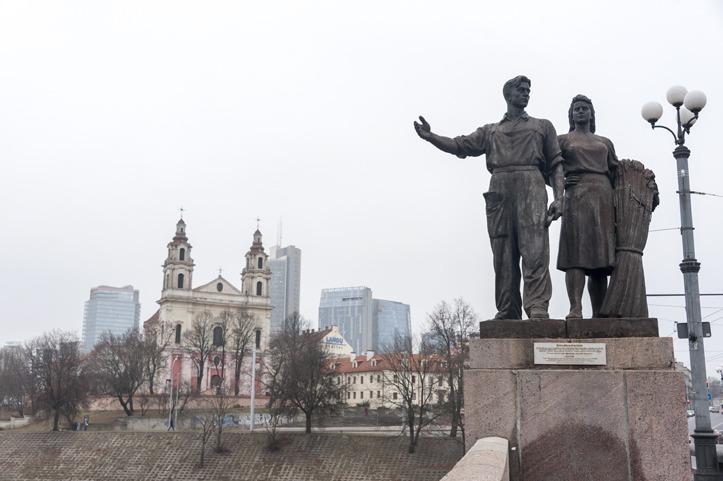 Lithuania Vilnius Soviet Statues