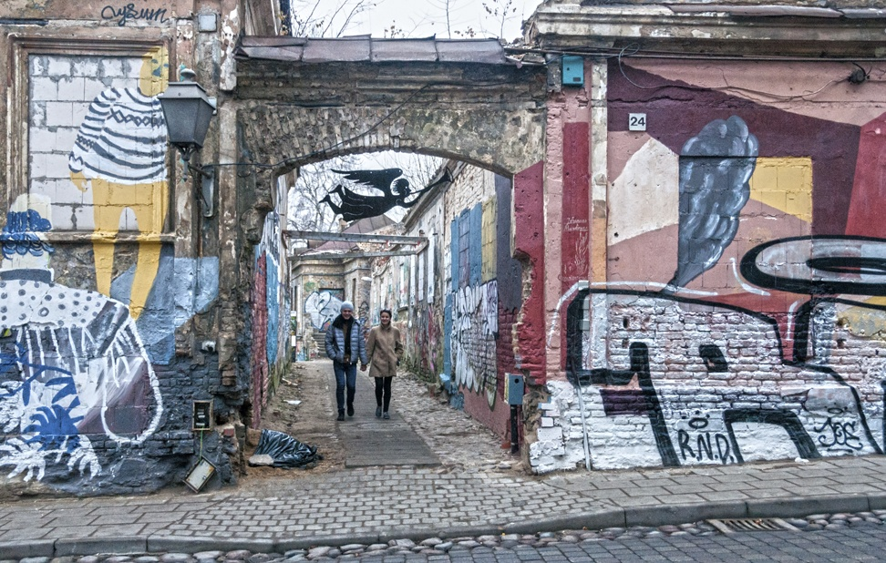 uzupis alley street art