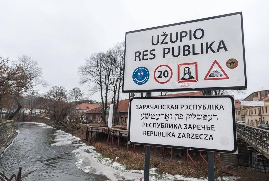 Lithuania Vilnius Uzupio Sign