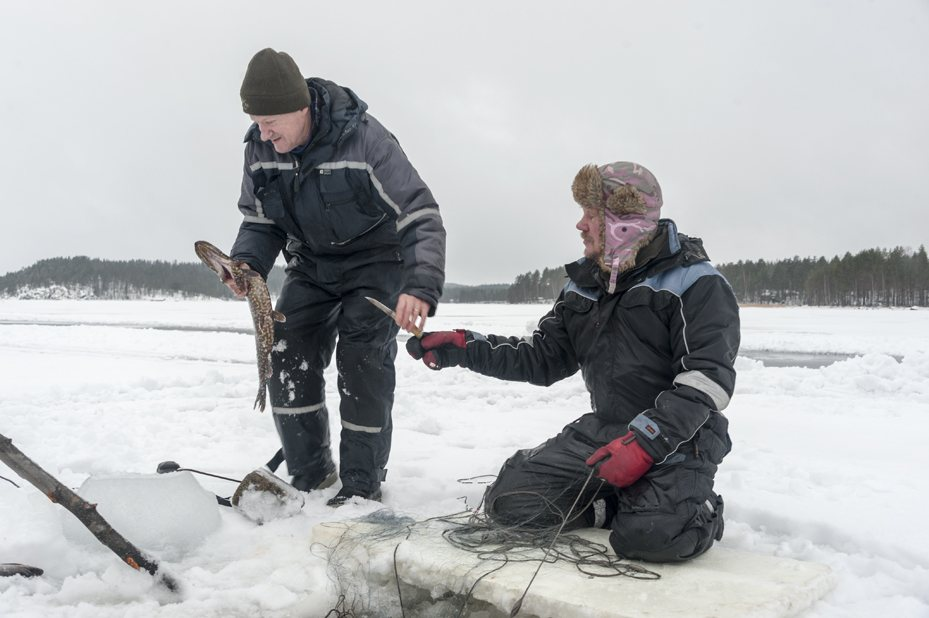 ice fishing mikkeli winter