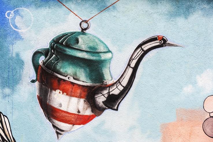Milano Street Art el gato chimney