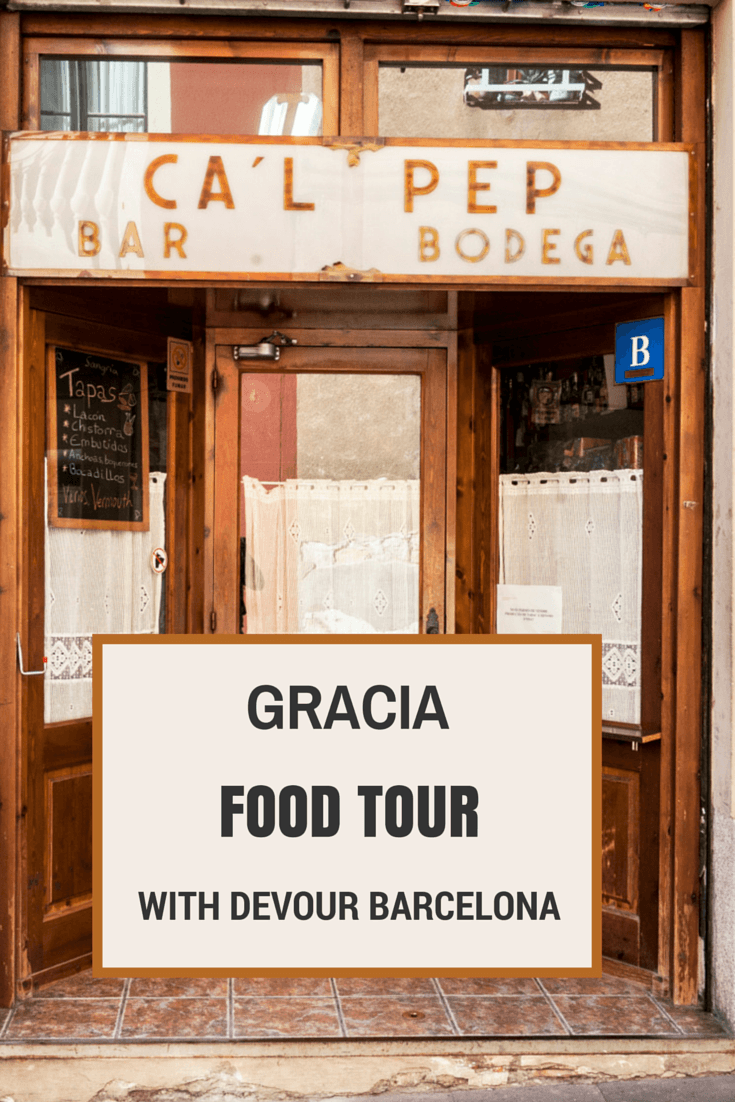 Gracia food tour pin