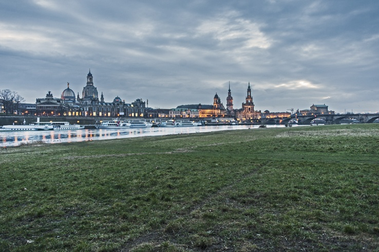 Dresden Germany skyline sunset