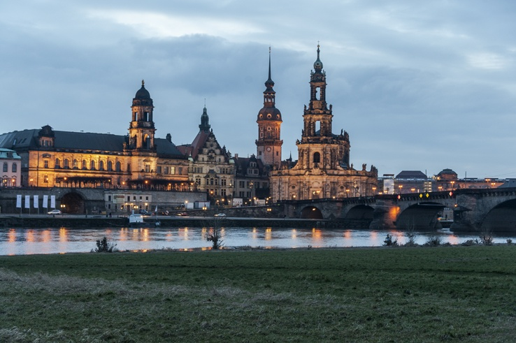 Dresden altstadt view germany