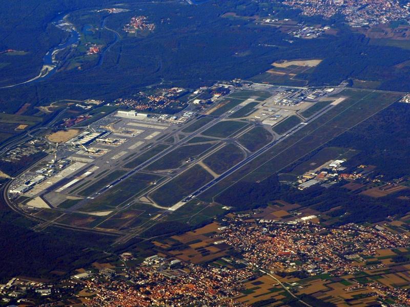 Malpensa Airport aerial view