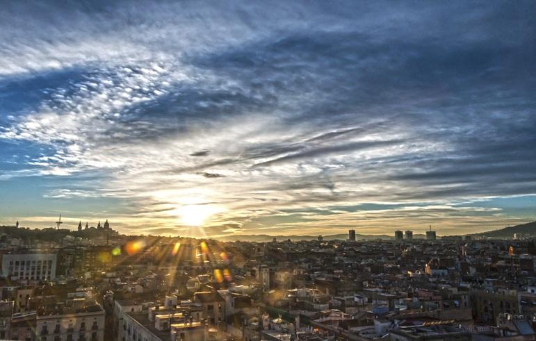 barcelo hotel raval sunset