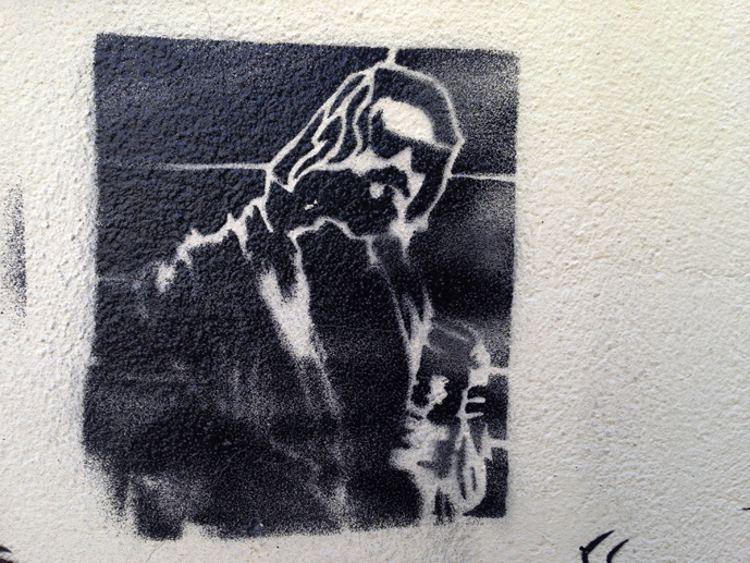the dude street art stencil dresden