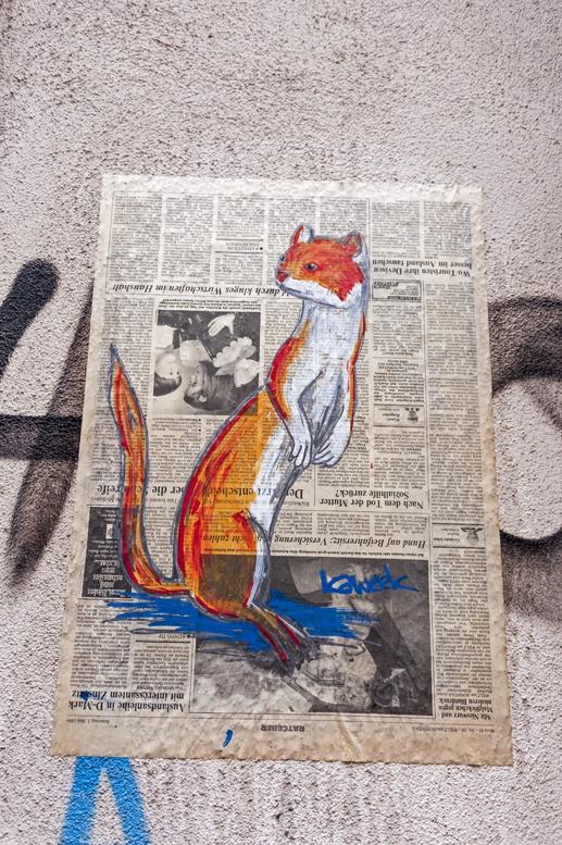 kaweek street art weasel