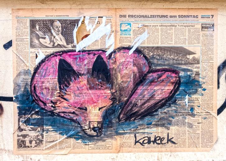 dresden street art kaweek fox