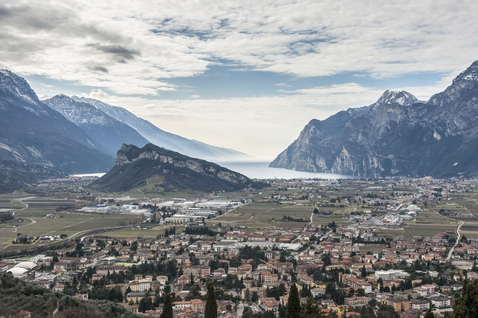 view from monte colodri lake garda