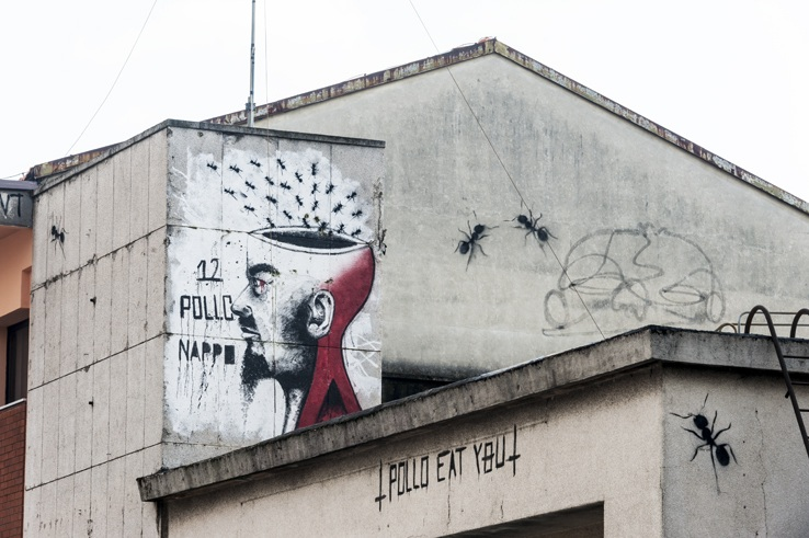 street art milan ants
