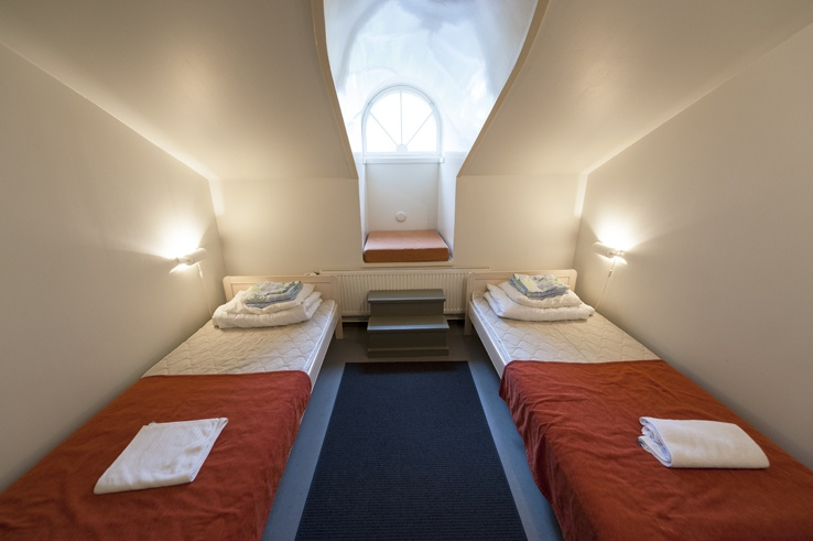 The rooms at Suomenlinna Hostel