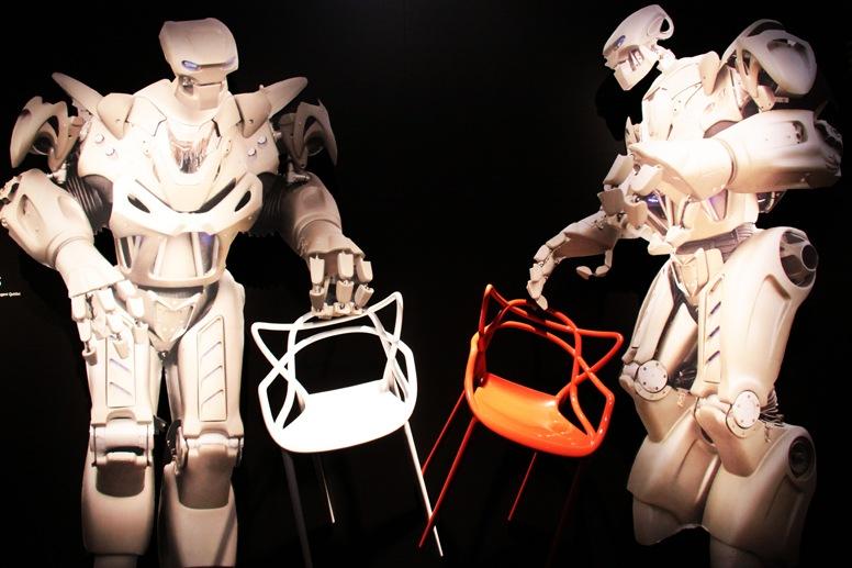 design week milan robotic chair exhibit