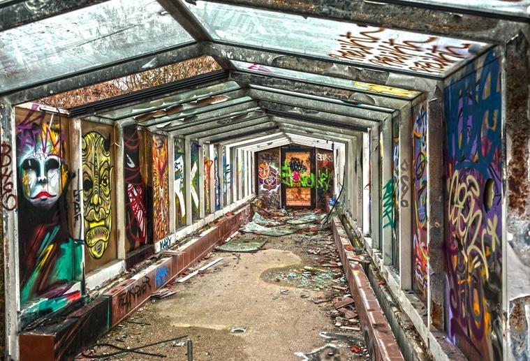 berlin street art urbex
