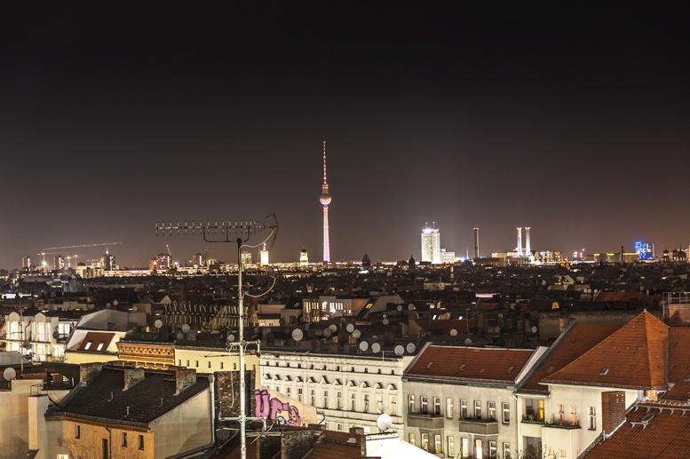 berlin skyline night