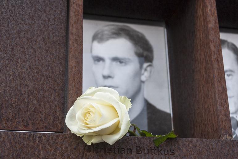 berlin wall memorial rose