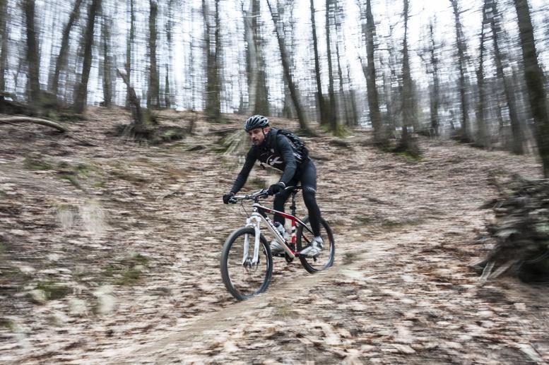mountain biking Biella woods