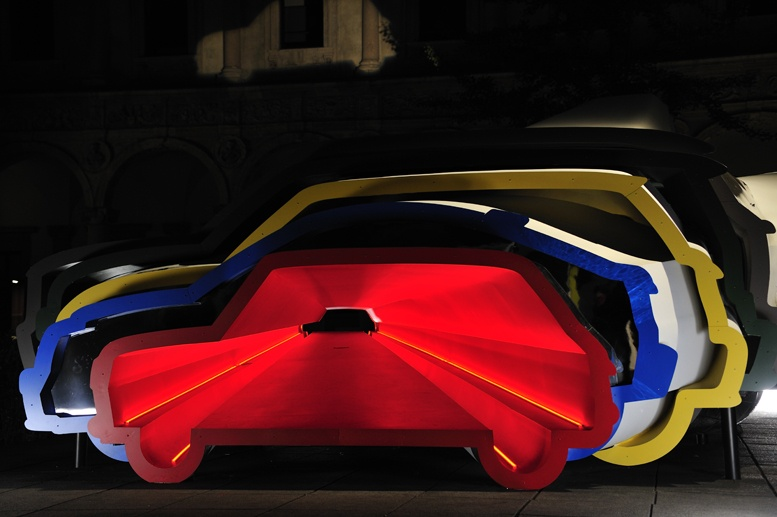 milan car light design exhibit