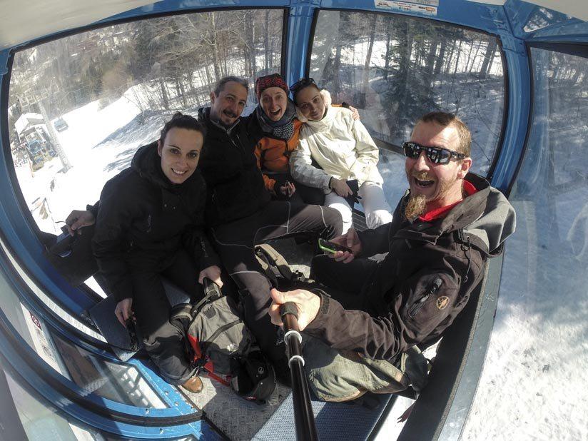 abetone cablecar selfie